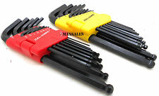 26pc ALLEN BALL POINT END LONG ARM HEX KEY WRENCH SET SAE & METRIC