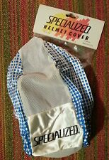 NOS VINTAGE SPECIALIZED HELMET COVER BLUE DOTS NIBALI CAVENDISH CONTADOR S-WORKS