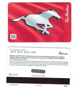 2019 TIM HORTONS CFL EDMONTON ESKIMOS RELOADABLE GIFT//TIM CARD NEW