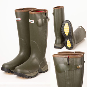 Rydale Neoprene Lined Wellington Boots Wellies Waterproof Boot Footwear Green