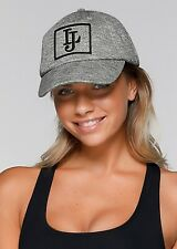 Lorna Jane Grey LJ Classic Cap Hat One Size Cotton Embroidered Knit Active NWOT