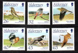 Alderney Stamps 2004 SG A235-A 240 Migrating BIrds (3rd Series)  Mint MNH