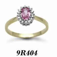 Pink Cluster Sapphire Fine Rings