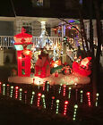 RARE Gemmy  Christmas 13′ Lighted Santa Sleigh Control Tower Inflatable Airblown