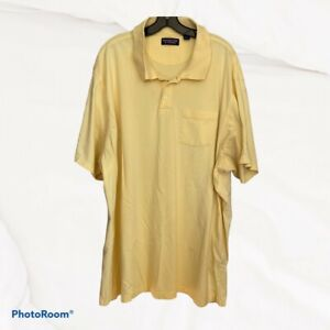 Roundtree & York Men's Big & Tall Yellow Polo Size 4XLT