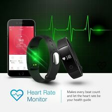 Bluetooth Smart Heart Rate Bracelet Watch Fitness Activity Tracker Pedometer