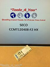 10x NUOVO SECO ccmt120408-f2 HX CARBIDE INSERTI PER TORNITURA 50