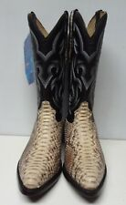 New Men'S Real Python Snake Skin Genuine Leather Cowboy Boots Rodeo Western C118