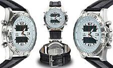 NEW Stuka Men's Aviator Watch Analog-Digital Watch Stainless Steel Ana-Digi