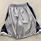 Nike Penn State Nittany Lions Gray Basketball Shorts Men's S Gray Blue W/ Pocket