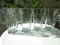 Set of 4 Heavy Clear Highball Glasses