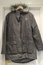 TRESPASS WINTER PERFORMANCE PADDED GREY HOODED COAT SIZE XL