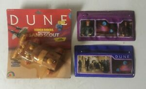 LJN DUNE ROUGH RIDERS MOTORIZED SAND SCOUT SAND TRACKER ~ SEALED + PENCIL CASES