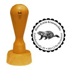 Stempel « MURMELTIER » Adressenstempel Motiv Tier Nagetier Munggen marmot Steppe