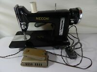 Vintage Very Rare Necchi BF Sewing Machine Black Made in Italy (Parts or Repair)