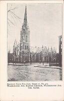 Brooklyn, NEW YORK CITY - Washington Avenue Baptist Church- BROOKLYN EAGLE CARD