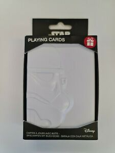 Star Wars Playing Cards With Stormtrooper Embosed Storage Tin Official Disney