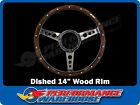 Classic 3 Spoke Dished 14 Wood Rim Steering Wheel 9 Hole Mg Street Rod Custom