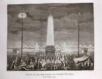 Champs Élysées Paris 18 Juillet 1790 Fête de la Fédération Révolution Française