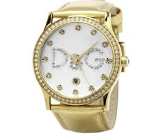 D&G Gloria DW0284 Genuine Gold color Leather Watch Strap Special fit
