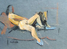 FRANKLIN WHITE - RECLINING NUDE #5 - ORIGINAL PAINTING  -  FREE SHIP IN US !!!