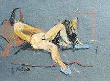 FRANKLIN WHITE - RECLINING NUDE #5 - ORIGINAL PAINTING  -  FREE SHIP IN US