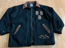 The Negro Leagues Vtg Baseball Wool Jacket Black Barons Zipper XL BBB EST 1920