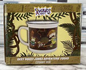 Nickelodeon Nick Box Rugrats Okey Dokey Indiana Jones Ceramic Camping Coffee Mug