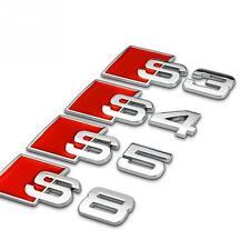 1 x Auto Metal letter Car sticker badge auto rear decal for Audi Badges Emblem
