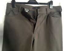 Mens Next Distressed Brown Trousers Pant 36 L  Polyester/ Viscose