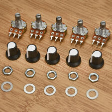 5Pcs 10K OHM Terminal Linear Taper Rotary 15mm Resistor Potentiometer&Knobs Kit