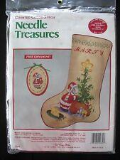 Merry Christmouse Stocking Cross Stitch Kit Needle Treasures 02839 10x16 Sealed