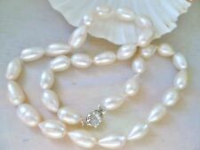 14-16 mm WHITE  Freshwater Pearl NECKLACE 48 cm long   925 STERLING SILVER