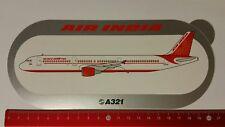 Aufkleber/Sticker: Airbus A321 / Air India (08041782)