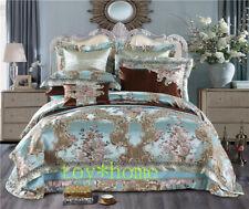 Luxury Wedding Royal Bedding Sets Satin Cotton Silky Soft Bedspread Duvet Cover