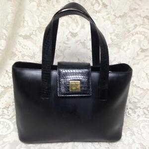 Celine, Paris, Italy Black Leather Handbag-Shoulder Bag 12in x 8in x 4in