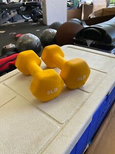 Neoprene Dumbbell 8 LB Set (16 LB Total) - Pair FAST SHIPPING