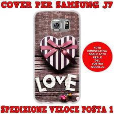 CUSTODIA COVER MORBIDA IN TPU PER SAMSUNG GALAXY J7 (J700) 2015 LOVE CON CUORE
