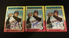 Steve Hargan Rangers 1975 Topps #362 Indians Signed Authentic Autograph FB15