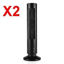2 x Ventilador por USB modelo Torre Negro,2 Velocidades,cable USB,altura 33 cm