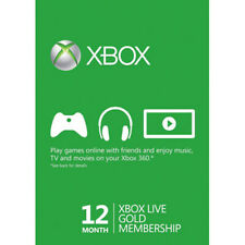 Xbox Live Gold 12 Month / 1 Year Subscription Card [Microsoft] [DISCONTINUED]