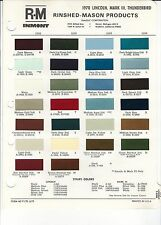 1970 LINCOLN THUNDERBIRD MARK III PAINT CHIPS (R-M)