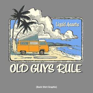 "OLD GUYS RULE "" LIQUID ASSETS "" SURF SURFBOARD FIN VAN BEACH SIZE: M, L, XL, 2X"