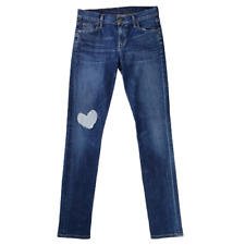 Citizens of Humanity Womens Avedon Low Rise Skinny Leg Jeans Size 27 Heart Patch