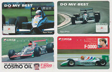 LOT 4 TC JAPON - VOITURE F 1 FORMULA 1 - RACING CAR JAPAN phonecards AUTO