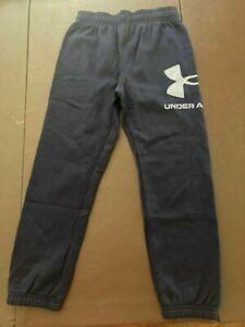 NWT Boys Youth Under Armour Side Leg Logo Fleece Joggers Size 6 Blue UAFEC14E