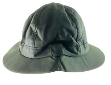 Barbour Mens Pull On Bucket Hat Green Waxed Cotton Canvas Waterproof Size 7 1/4