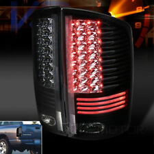 Black 2002-2006 Dodge Ram 1500 2500 3500 Pickup LED Tail Lights Left+Right