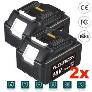 2x 18V 6.0Ah Lithium-ion Battery for Makita BL1815 BL1830 BL1840 BL1845 BL1850
