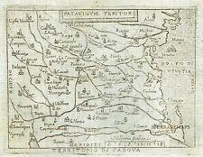 1667 Nice Map of Padua - PADOVA ITALIA - Italy - by Marchetti / Ortelius